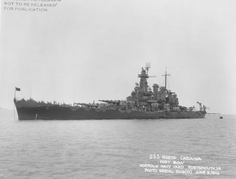 USS North Carolina 1942