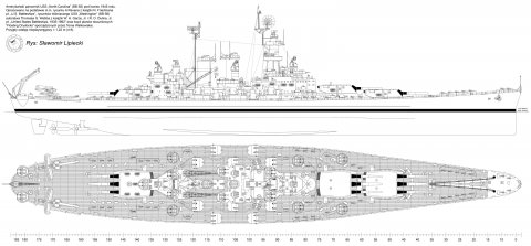 USS North Carolina 1945 gray